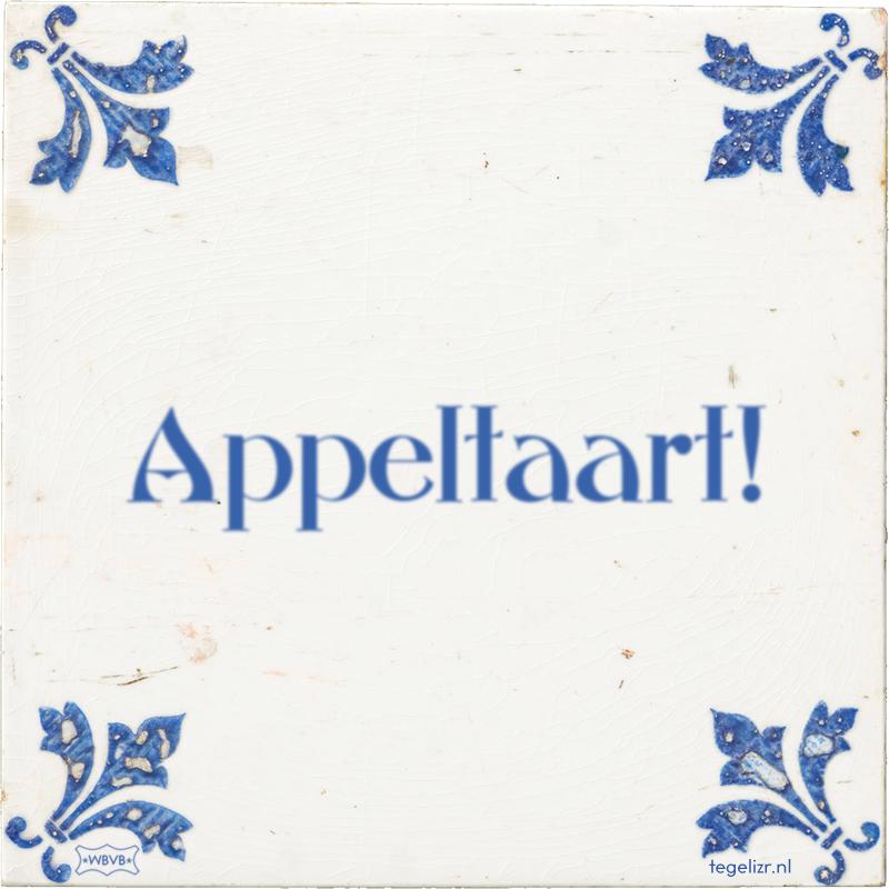 Appeltaart! - Online tegeltjes bakken