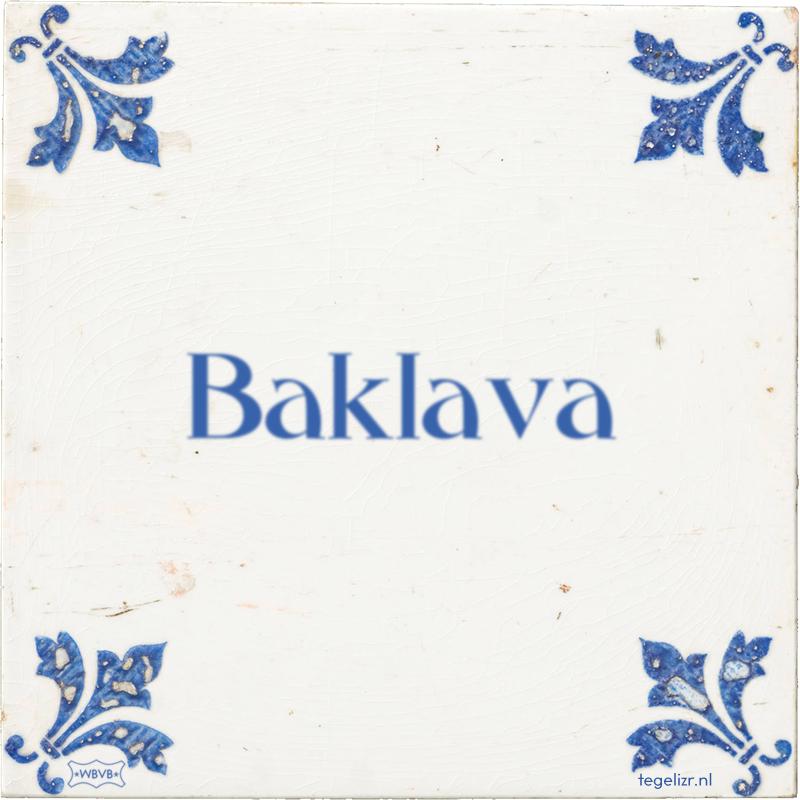 Baklava - Online tegeltjes bakken