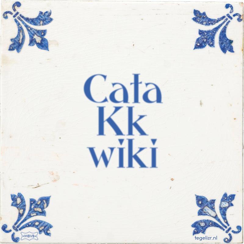 Cata Kk wiki - Online tegeltjes bakken